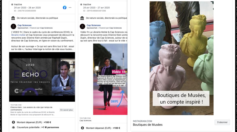 10 exemples de publicité Facebook pour les musées