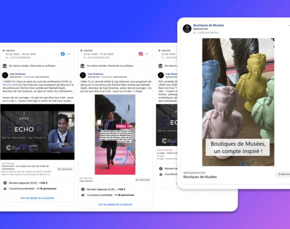10 exemples de publicités Facebook lancées par des musées et lieux culturels