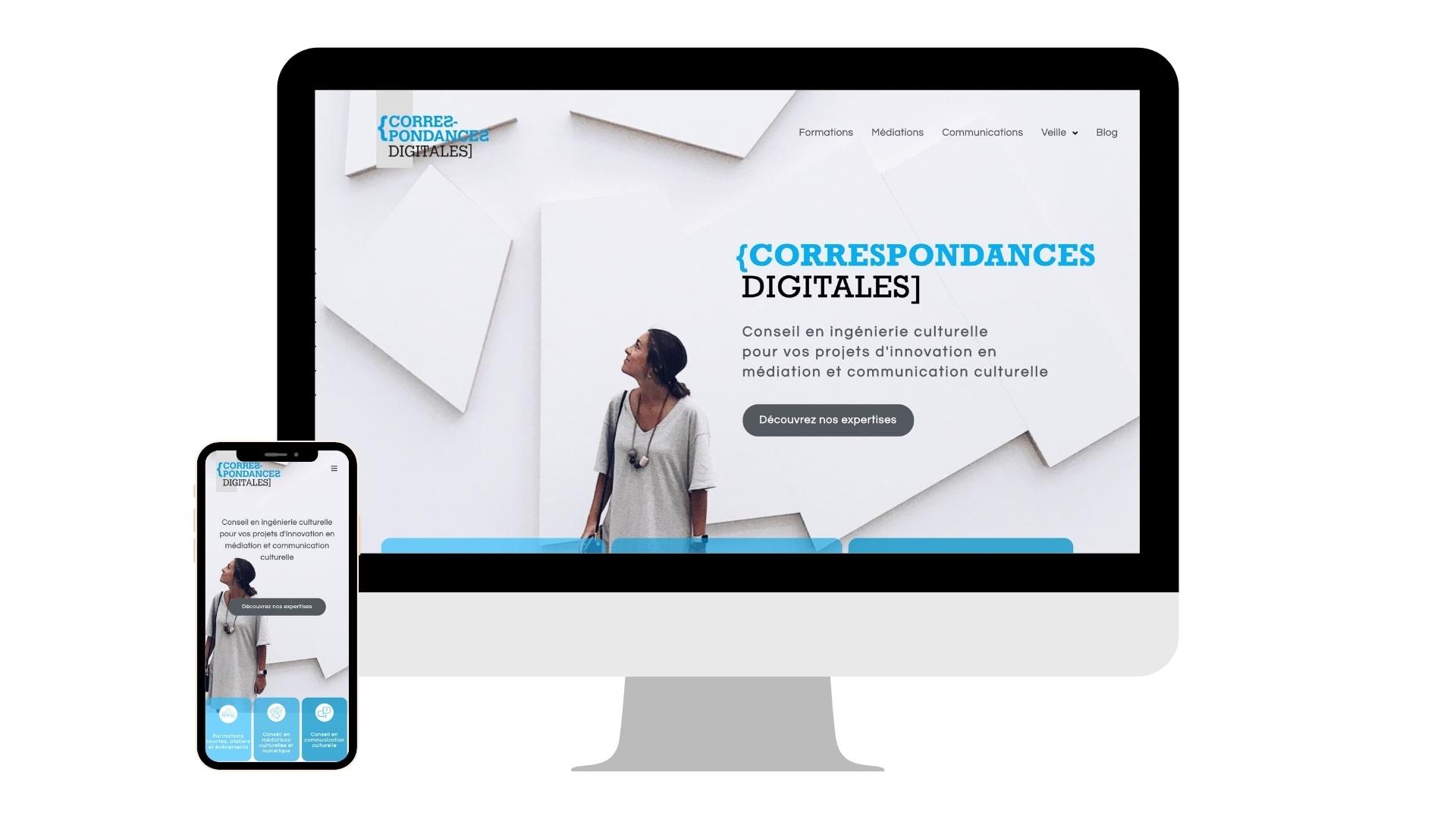 Création site Internet Correspondances Digitales
