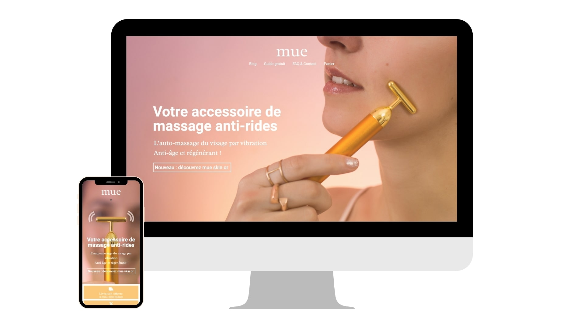 Création site Internet Mue Skin