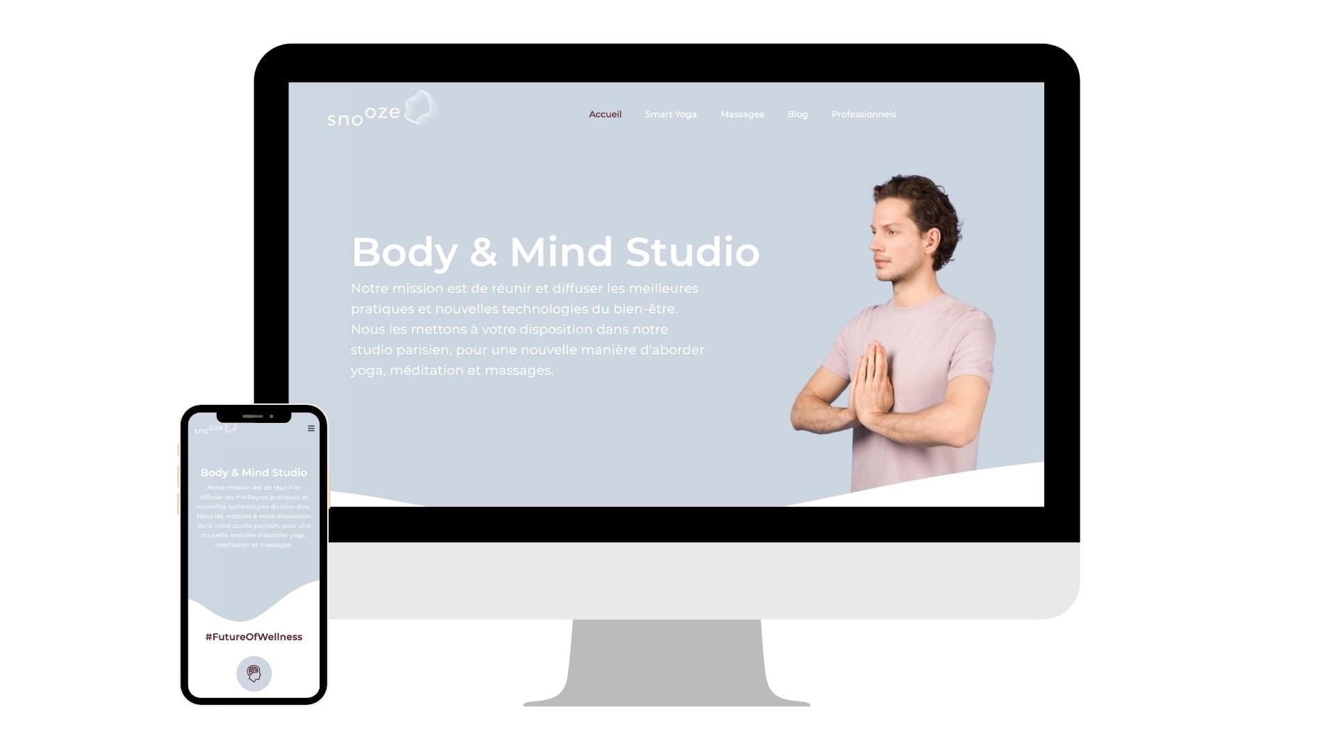 Création site Internet Snooze Studio