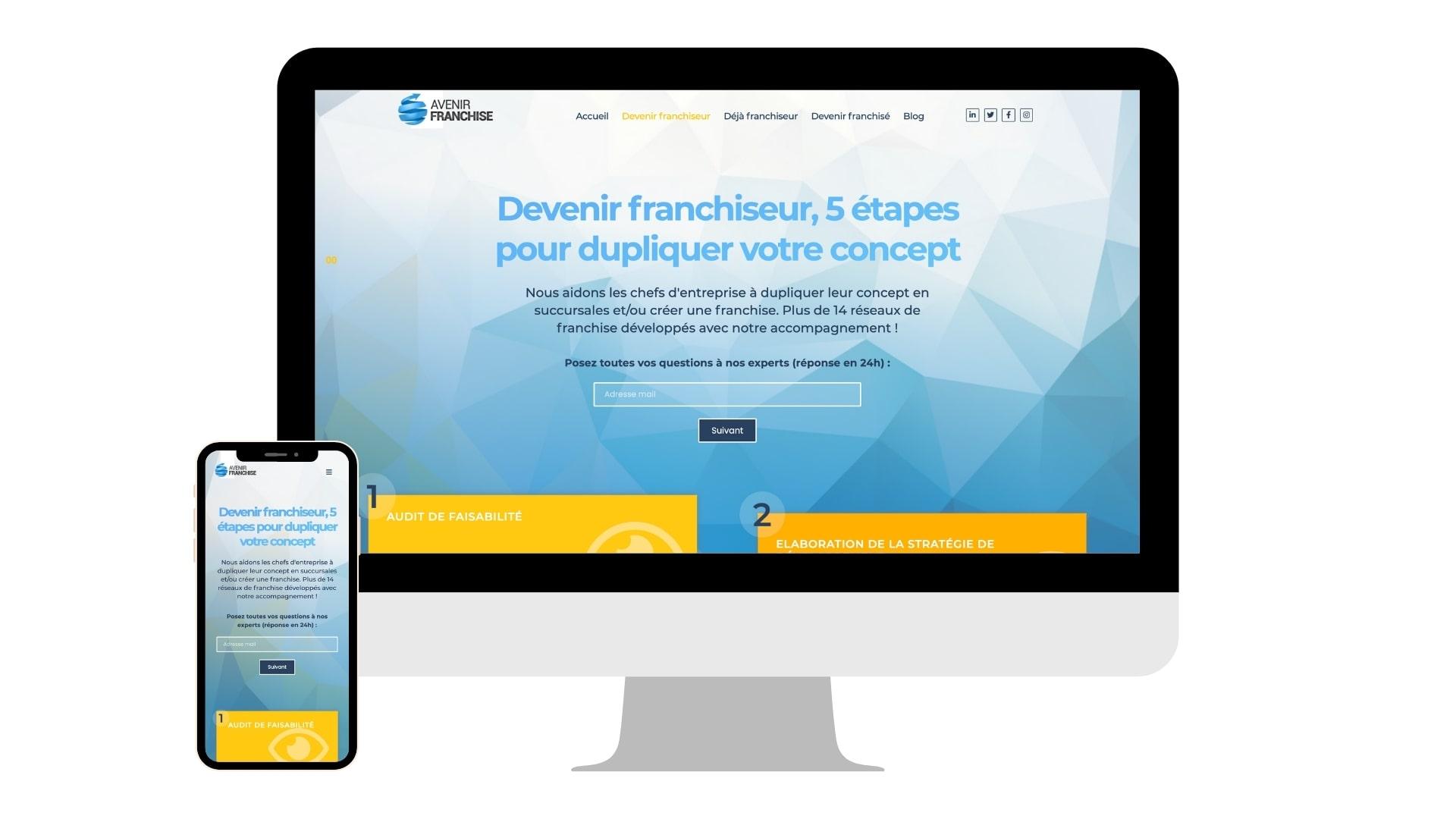 Création site Internet Avenir Franchise