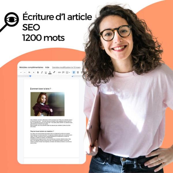 Freelance écriture article SEO 1200 mots