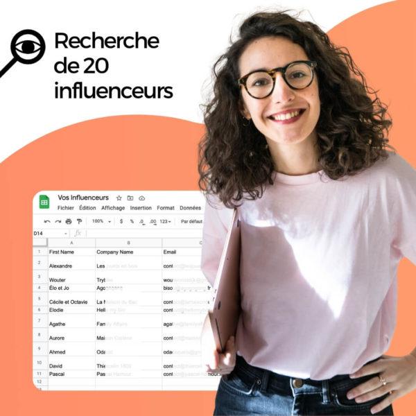 Freelance recherche influenceurs