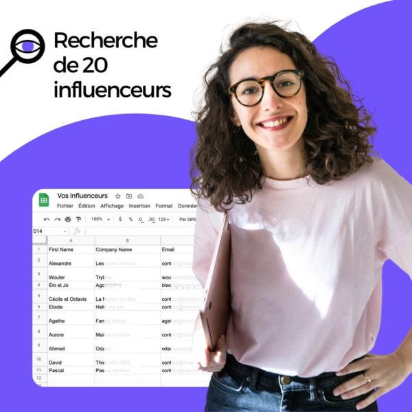 Recherche d'influenceurs