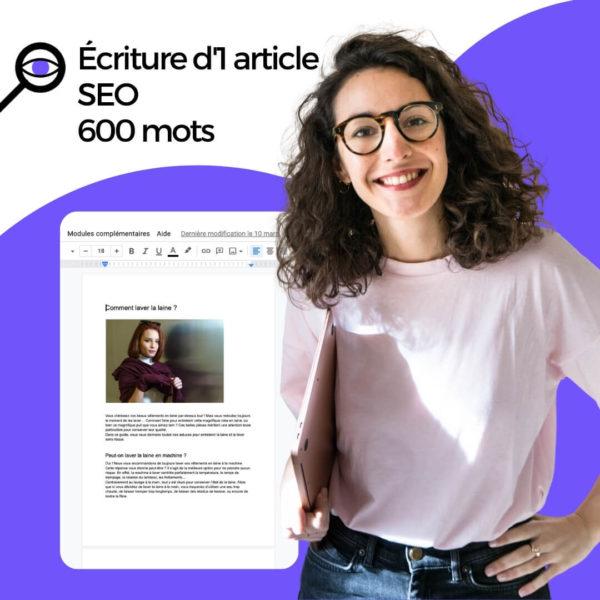 écriture article SEO 600 mots
